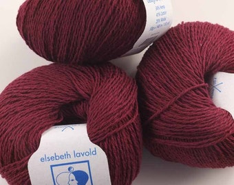 Hempathy hemp yarn, color #64, Dark Wine, cotton, modal, hemp knitting yarn