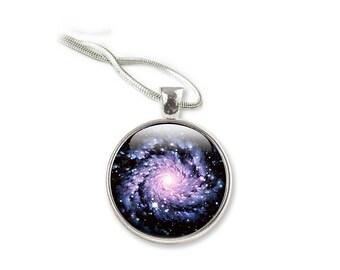 Galaxy - Glas Galaxy Halskette - Spiral Galaxy Halskette - Glas Anhänger Schmuck