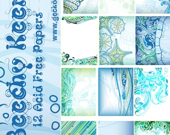 Beachy Keen Digital Paper Pack