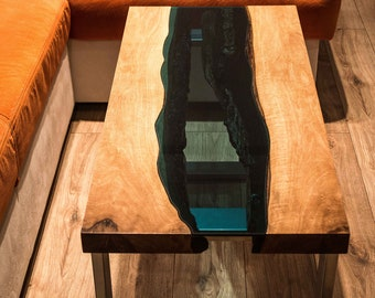 Live edge Walnut river coffee table