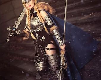 Valkyrie cosplay Marvel comics armor superhero girl fantasy nord