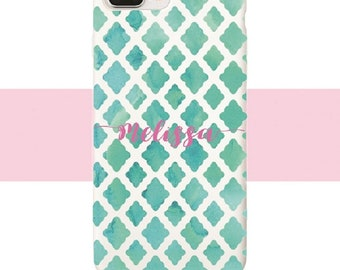 Lilly Pulitzer style iphone case| Samsung case | Turquoise
