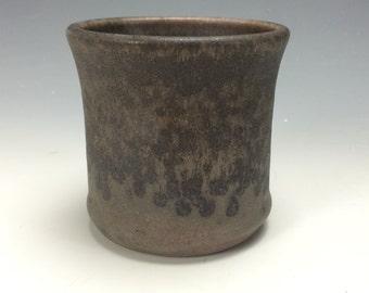 Rustic Slate Grey and Teal Ceramic Tumbler, Clay Handless Mug, Unique Wine Goblet, Modern Kitchen Home Decor, Tea Wine Goblet