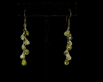 Handcrafted Prehnite and Sterling Silver Earrings
