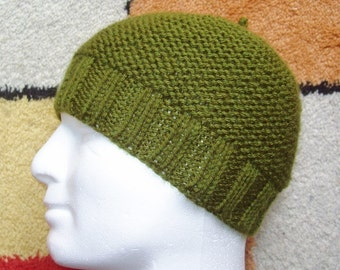 KNITTING PATTERN/ BEAU Mans Beanie Pattern/Easy Knit Straight/Aran Worsted/ Easy Knit Mans Simple Beanie Cap Mans Hat