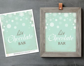 Hot Chocolate Sign, Acrobat PDF Hot Cocoa Bar Sign, Printable, Baby Shower Decor, Christmas Party, DIY Oh Baby Its Cold, Party Printables