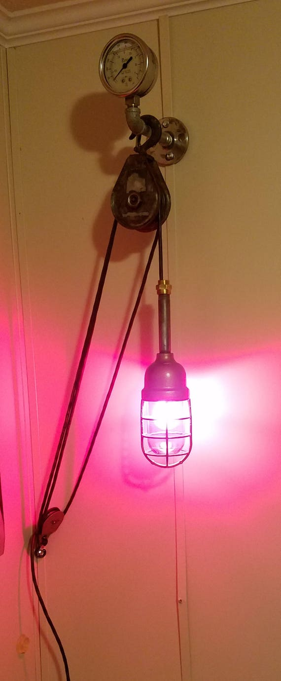 Items similar to vintage crouse hinds mckissik pulley light on Etsy