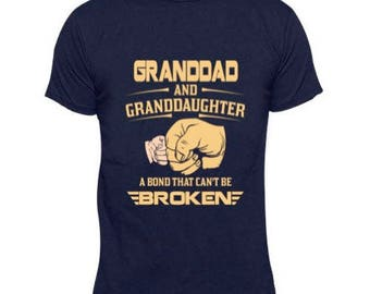 Digital file SVG and DXF  and png Granddad and Granddaughter Bond thats can't be Broken