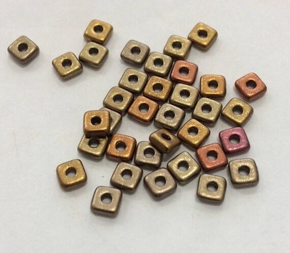 Czech Quad Beads Metallic Mix 5g (approx 110 beads)