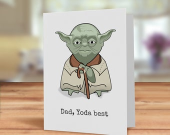Geeky Fathers day card, Geeky card for Dad, Fathers day card, Sci-fi Father's day card, Best Dad, Film Fathers day card, card for him