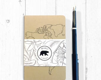 World Map - Travel Moleskine Journal