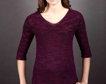CROCHET sweater PATTERN - Baroque Crochet Pullover Pattern