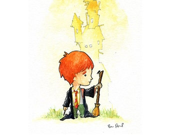 Ron Weasley Watercolor Print