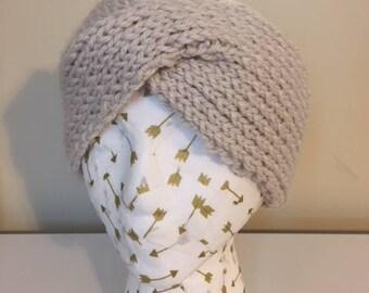 Cream Twist Headband