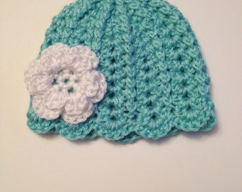 Crochet Baby Hat, 0-3 Months
