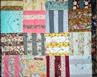 Strip Lap Quilt---blanket