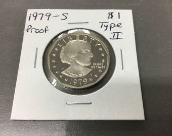 1979-S Proof type 2 Susan B. Anthony dollar