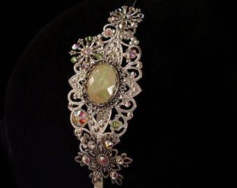 Aurora Borealis - Headband - Snowflakes - Crystal - Light Green - Frozen - Headdress - Snow Queen - Fairy - Winter - Bridal - Hair - Wedding