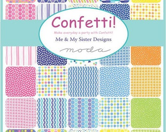Confetti - Fat Eighth Bundle by Me and My Sister for Moda - 40 pieces