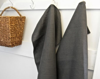 Linen Kitchen Towels, Gray Linen Dish Towels, Hand Towel, Large Napkin, Tea Towel