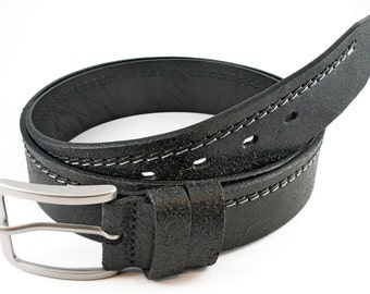 leather belt, mens black leather belt, mens leather belt, belt for men, thick belt, black thick belt, belt for jeans, suit black belt,