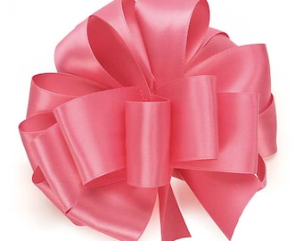 """5yds x 1-1/2"""" HOT PINK Double Faced SATIN Ribbon Woven Edge (Free Shipping!)"""