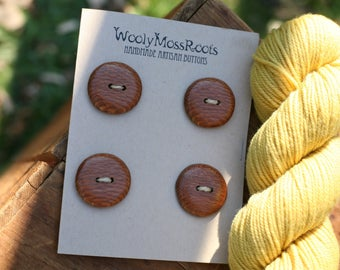 SALE!  4 Wooden Buttons- Leopardwood- Wooden Buttons- Eco Craft Supplies, Eco Knitting Supplies, Eco Sewing Supplies