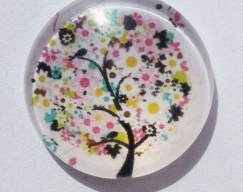tree of life cabochon, 30mm (flowers)