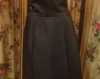 "1960's, 34"" bust, 2 piece dress with detachable top"