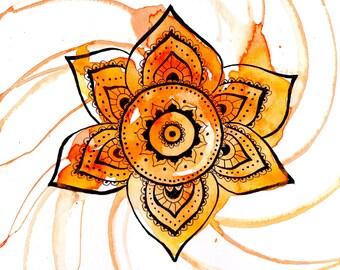 Healing Mandala - Sacrel Chakra