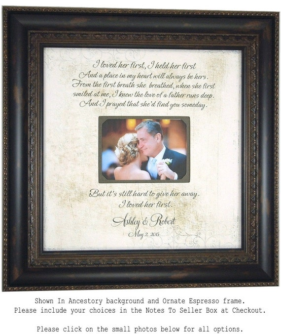 Wedding Gift For Parents Father or the Bride Gift I Loved