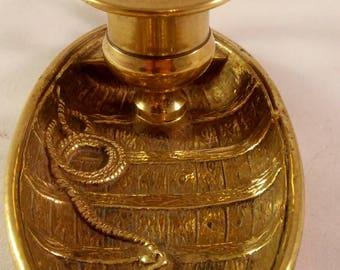 Vintage brass boat candle holder