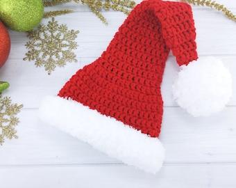 Baby Santa Hat - Baby Santa Outfit - Baby Santa Costume - Baby Christmas Outfit - Newborn Santa Hat - Toddler Santa Hat - Child Santa Hat