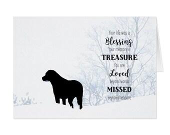 Black Lab Dog Sympathy Card 06BTLM - Pet Loss - Dog Condolence Cards - Dog Loss Card - Sympathy Quote - Sympathy Card - Condolence Card