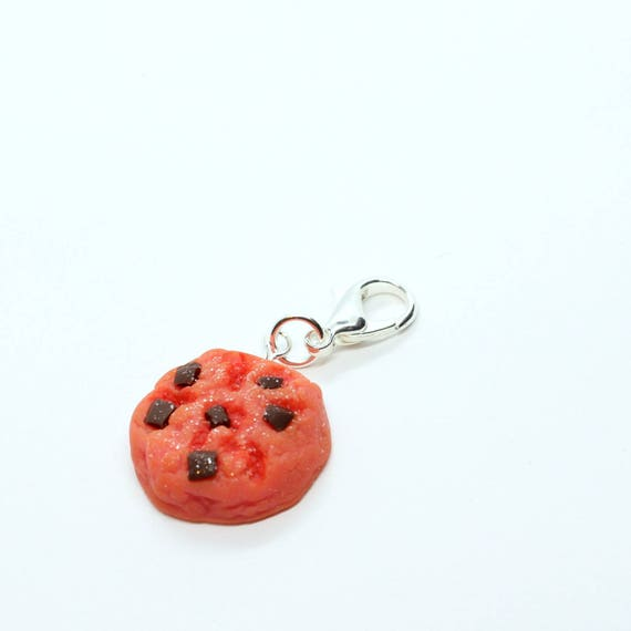 Strawberry Chocolate Chip Cookie Charm - Stitch Marker - Progress Keeper - Zipper Pull - Planner Charm - READY TO SHIP