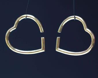 Heart Brass ear weights
