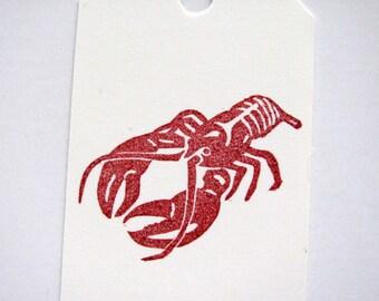 Lobster Hand Carved Stamp