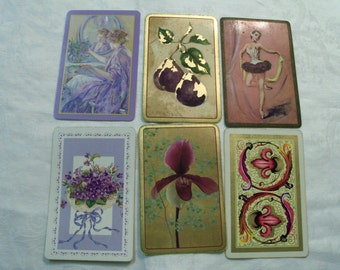 12 Playing cards,  Purple Playing cards, Antique Playing Cards, Vintage Playing Cards, Playing card Swap
