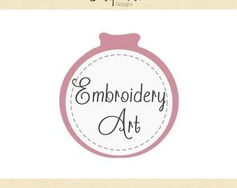 Premade Logo & Watermark // Embroidery Art // Handmade Business // Solipandi Design Studio// #008