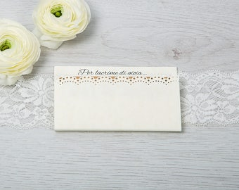 "Door tissues ""tears of joy""-Line White Lace"