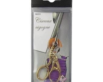 Sewing, hobbies, B4355 Stork scissors