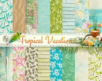 Tropical Vacation Paper Set
