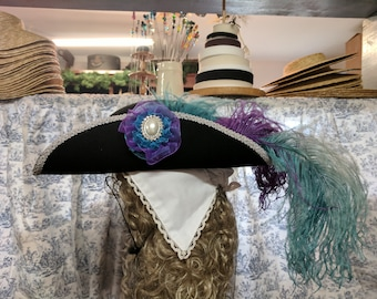 Fancy Tricorn, Decorative tricorn, pirate hat, steampunk, costume