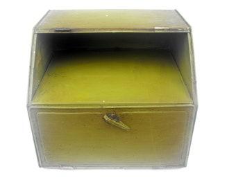 1940s Avocado Green Pie Safe Vintage Bread Box Cake Holder Tin Kitchen Storage Drawer Retro Mid Century Olive Metal Pastry Keeper Container
