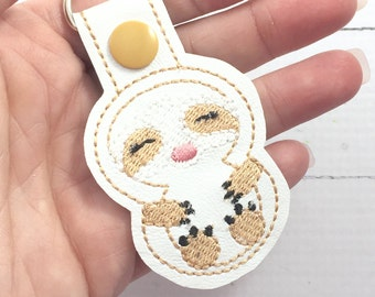 Sloth keychain - Keyring - stocking stuffers - planner charms - bag charms - best gifts for her - novelty - teens  - gifts under 10
