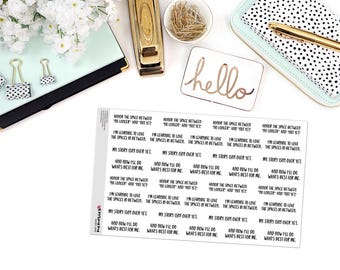 "MCM MANTRAS: ""The spaces in between..."" Paper Planner Stickers"