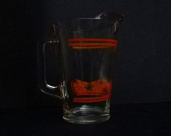 Vintage Orange juice ball pitcher