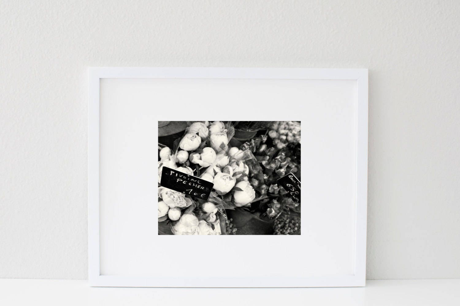 Black and White Peony Photograph - B&W Paris Photography - Floral ...
