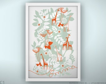 "Baby Print - Backyard - Unframed - 13 x 19"""