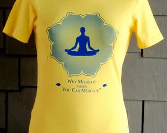 Yoga  t-shirt  Easy Pose on Yellow